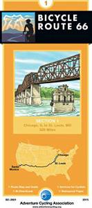 Bicycle Route 66 Map #1 Chicago, IL – St. Louis, MO