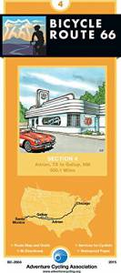 Bicycle Route 66 Map #4: Adrian TX, – Gallup, NM