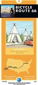 Bicycle Route 66 Map #5: Gallup, NM – Oatman, AZ
