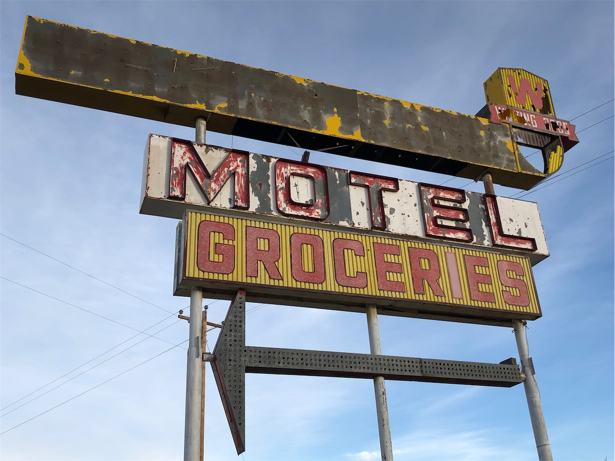 Whiting Bros Motel Sign