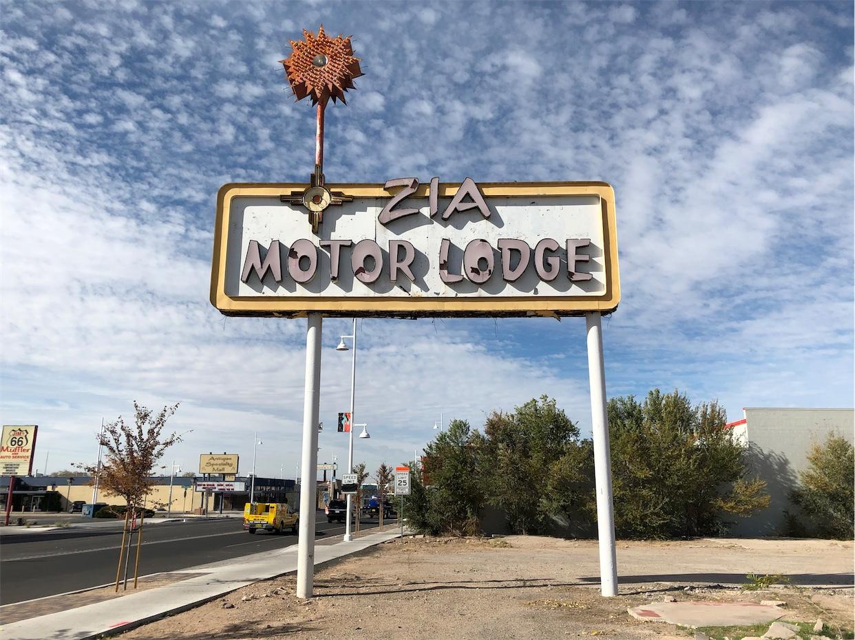 ZIA Motel Lodge Sign