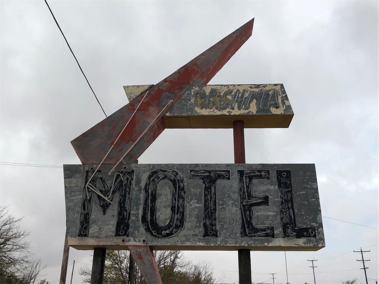 Washita Motel Sign
