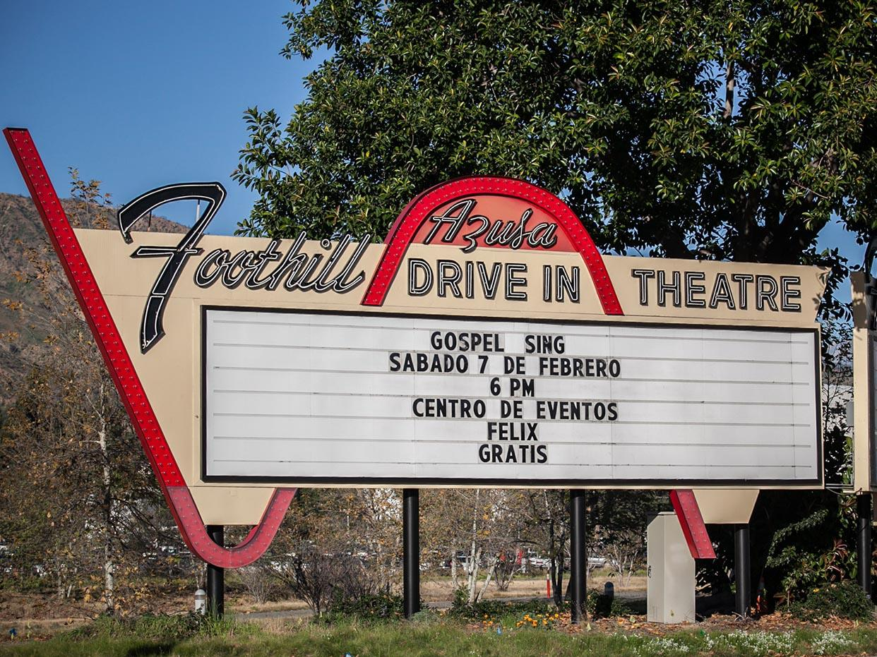 Foothill Drive In Sign