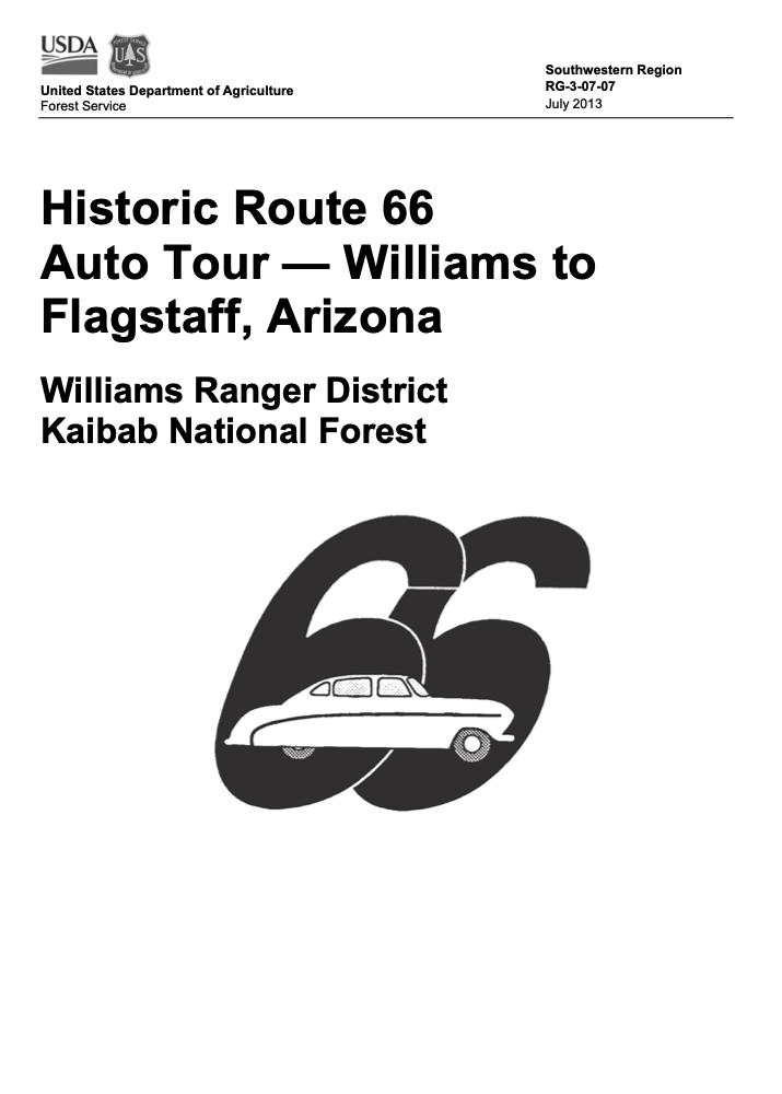 Historic Route 66: Williams to Flagstaff auto tour
