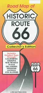Road Map of Historic Route 66 – Collector's Edition